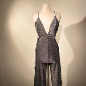 Forever 21 Dresses - Shut up & drive, Silver Shimmery Jumpsuit.